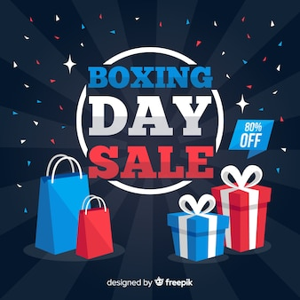 Boxing day sale background