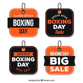 Boxing day sale badge in square shape