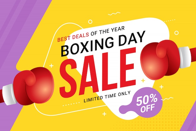 Boxing day sale banner design with discount offer