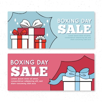 Boxing day sale banner in light colours
