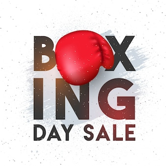 Boxing day, sale banner, poster or flyer design.