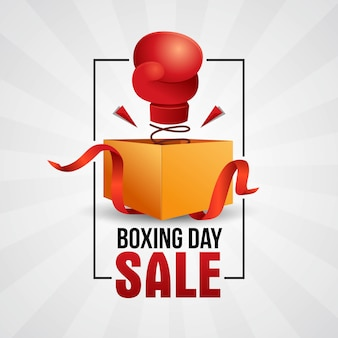 Boxing day sale banner template design