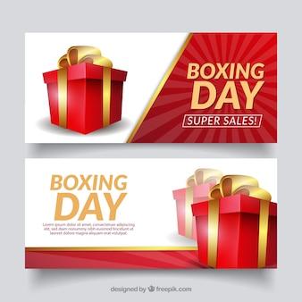 Боксерский рекламный баннер