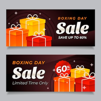 Boxing day sale banners in flat design