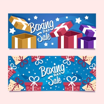 Boxing day sale banners set