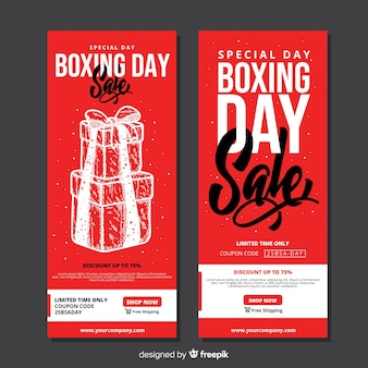 Boxing day sale banners