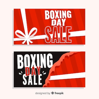 Boxing day sale flat banner