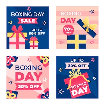 Boxing day sale instagram post collection