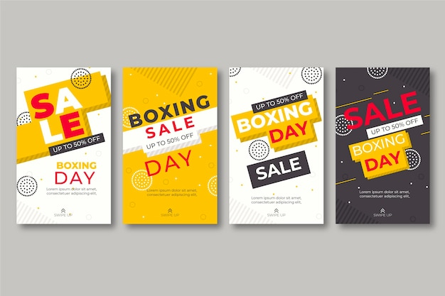 Boxing day sale instagram stories collection