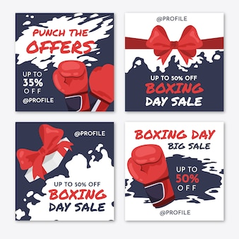 Boxing day sale instagram story collection
