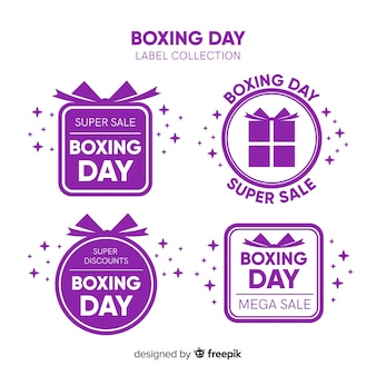 Boxing day sale label collection