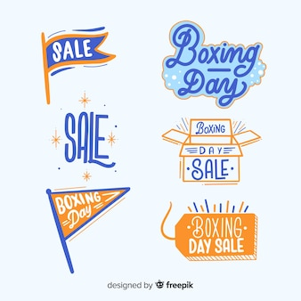 Boxing day sale labels collection