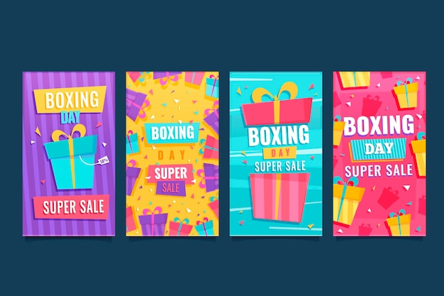 Boxing day sale social media stories