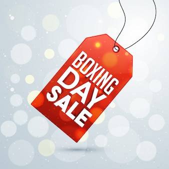 Boxing day, sale tag design.