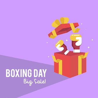Boxing day sale web banner illustration
