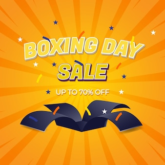 Boxing day sale with editable text effects and boxing day sale gift surprise