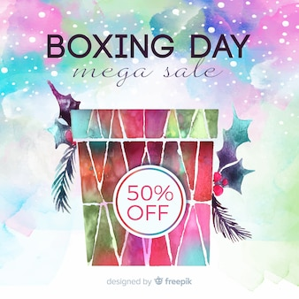 Boxing day sale with present
