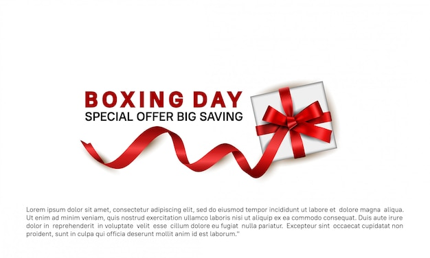 Boxing day special offer for sale banner template