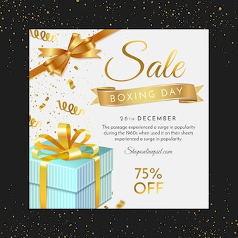 Boxing day square flyer template
