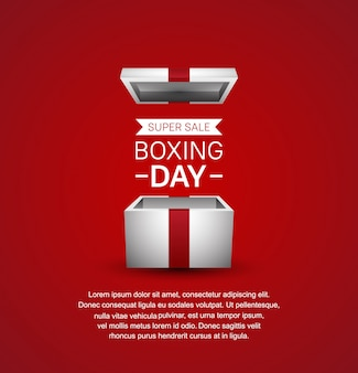 Boxing day super sale for sale banner template