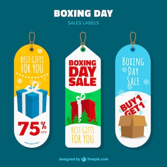 Boxe tag giorno pacchetto