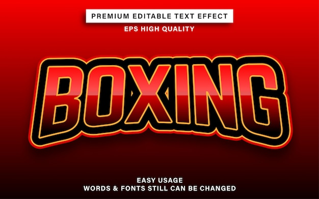 Boxing editable text effect