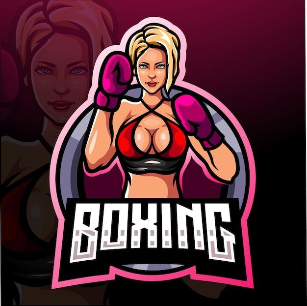Boxing esport logo mascot design