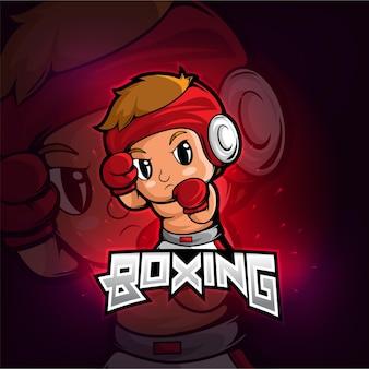 Дизайн логотипа талисмана бокса киберспорта