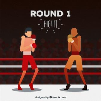 ボクシングの戦い Premiumベクター