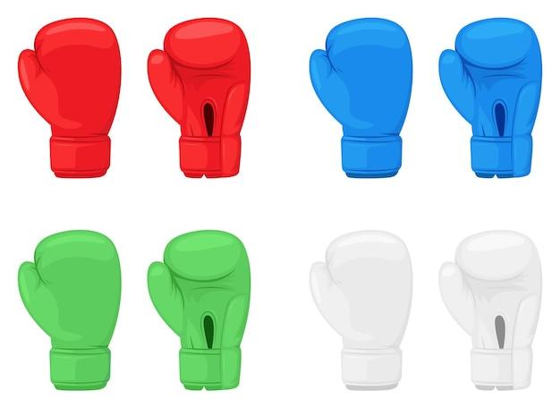 Боксерские перчатки дизайн иллюстрации, изолированные на белом фоне Premium векторы