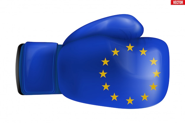 Boxing gloves with eu flag