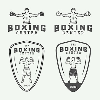 Boxing logo badges