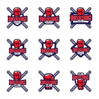 Boxing logo templates design