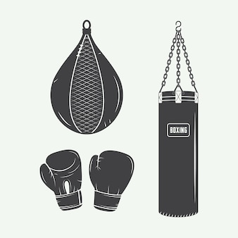 Boxing and martial arts logo badges label