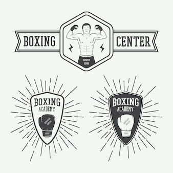 Boxing and martial arts logos