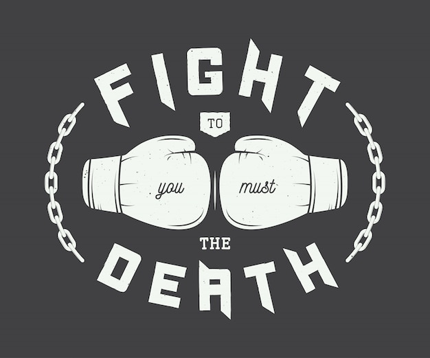 Boxing, mixed martial arts logo