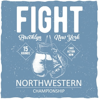 Boxing northwestern championship poster
