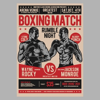 Boxing poster flyer