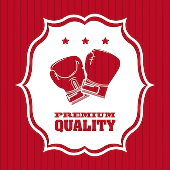 Boxing premium quality logo graphic design