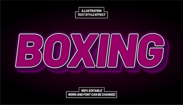 Boxing purple text style effect