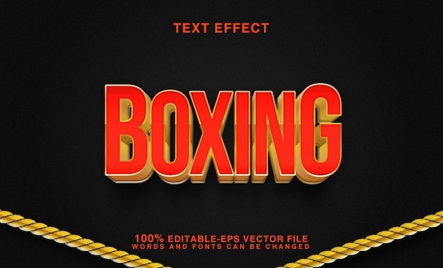 Boxing red and gold text effect