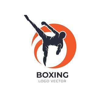 ボクシングsillhouetteベクトルのロゴ