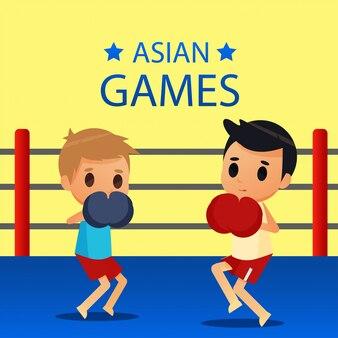 ボクシングのスポーツのイラスト