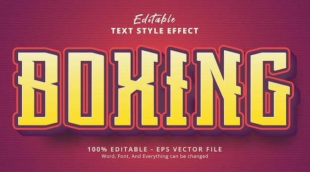 Boxing text on cartoon headline style effect, editable text effect
