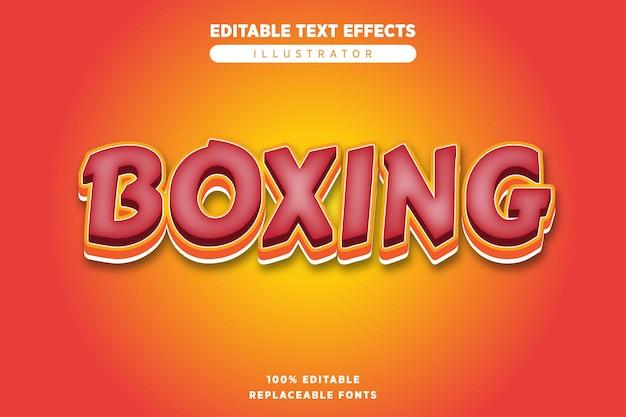 Редактируемый текстовый эффект бокса