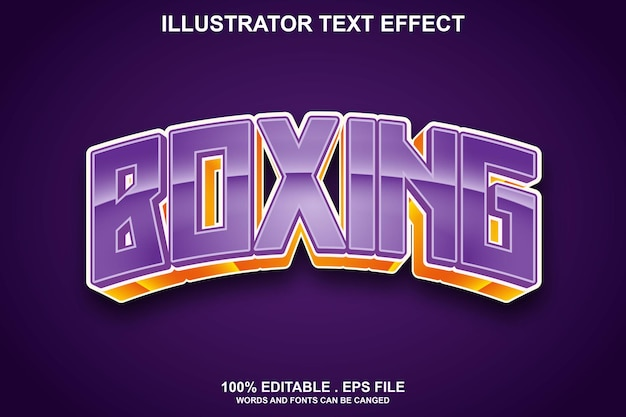 Boxing text effect editable