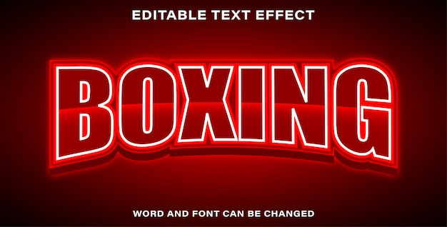 Boxing text effect style