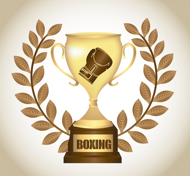 Boxing trophy graphic design