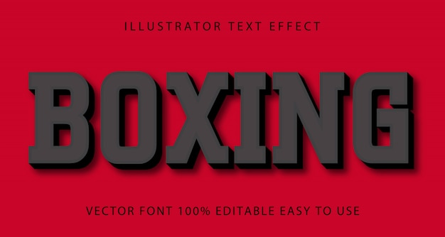 Boxing vector editable text effect