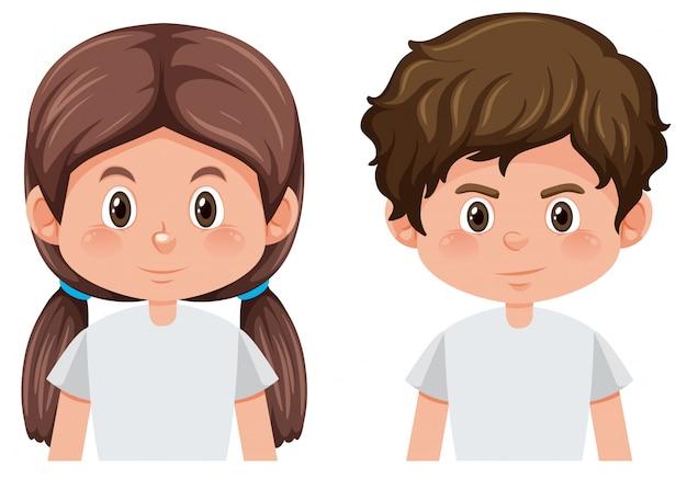 소년과 소녀의 얼굴